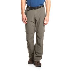 Maier Sports Tajo zip off broek short grijs/bruin